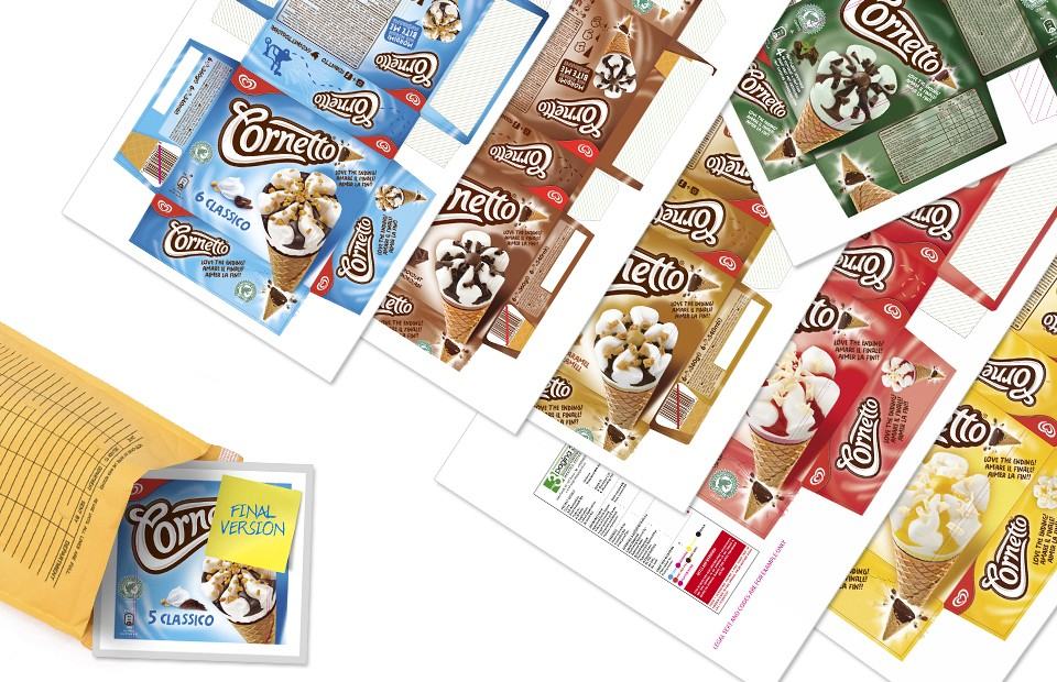 Packaging Design Implementation Cornetto