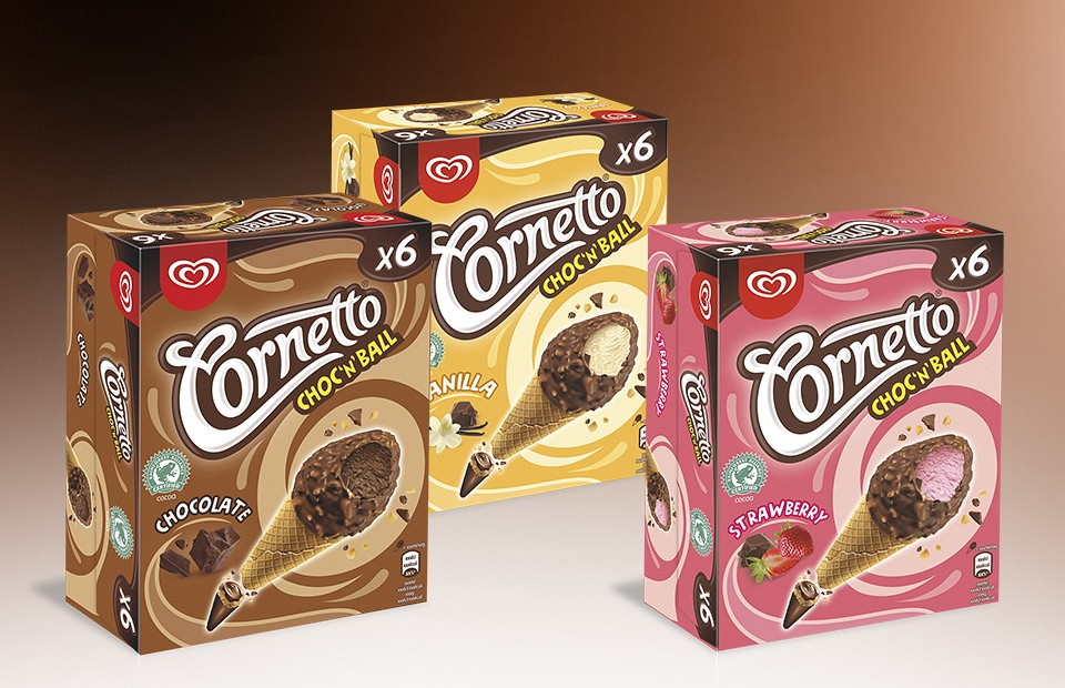Packaging Design Cornetto Choc'n ball