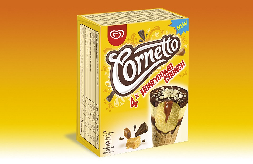 Packaging Design Cornetto Honey Comb