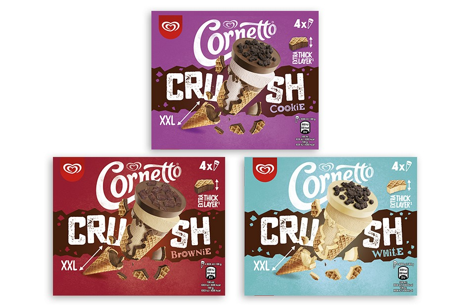 Packaging Design Cornetto Crush