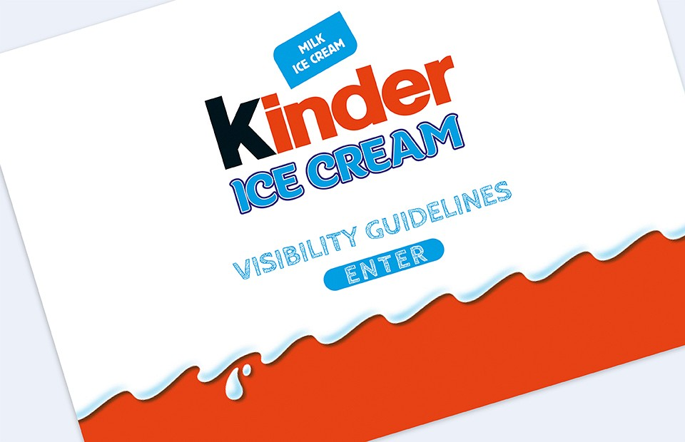 Brand Guidelines Kinder Ice Cream